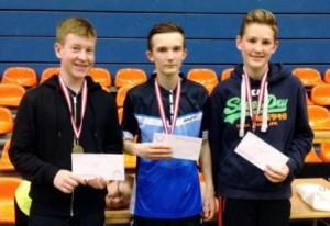 Bronzemedaljer til Asger, Anders og Jonas